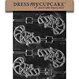 Dress My Cupcake DMCC142 Chocolate Candy Mold Candy Cane Lollipop Christmas
