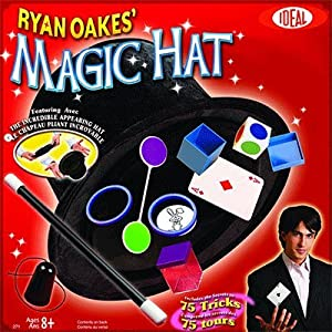 POOF-Slinky - Ideal Ryan Oakes 75-Trick Collapsible Magic Hat Set with Magic Wand and Secrets of Amazing Magic Tricks 35-Page Booklet, 0C2719BL