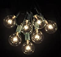 50 Foot Globe Patio String Lights - Set of 50 G50 Clear Bulbs from Hometown Evolution, Inc.