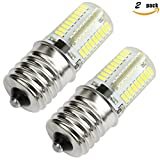 Kakanuo E17 LED Bulb Microwave Oven Light Dimmable 4 Watt Daylight White 6000K 72X3014SMD AC110-130V (Pack of 2)