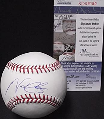 Nick Gordon Minnesota Twins JSA DEBUT SIGNATURE COA Autographed Signed Baseball