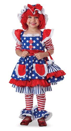 [Little Girls' Raggedy Ann Costume X-Small (4 - 6)] (Raggedy Ann Costume Infant)