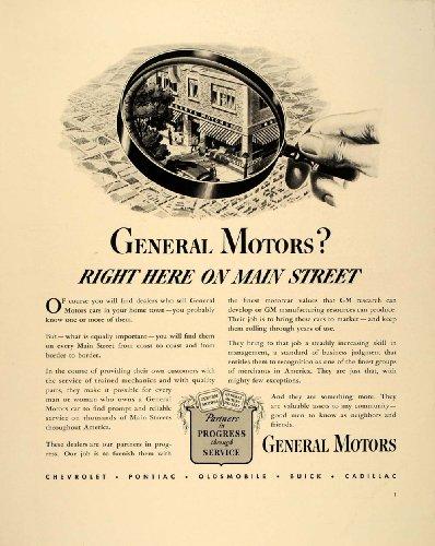 1941 Ad Gm General Motors Dealers Main Street America - Original Print Ad