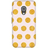 The Racoon Gold Glitter Circles Printed Designer Hard Plastic Back Case For Moto G 2nd Gen
