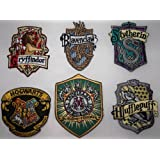 HARRY POTTER Set OF 6 British Logo Embroidered PATCHES