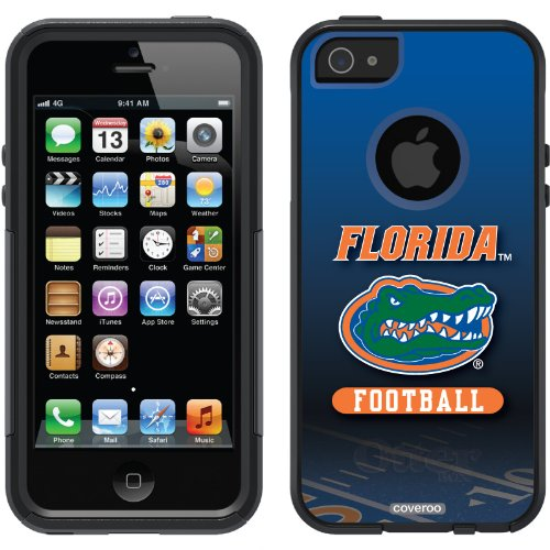 Special Sale University of Florida - Football Field design on a Black OtterBox® Commuter Series® Case for iPhone 5s / 5