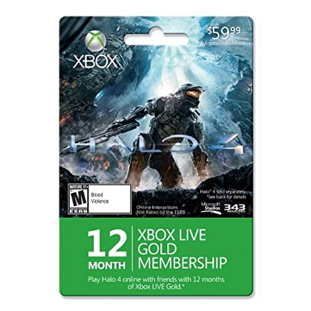 Xbox LIVE 12 Month Gold Membership for Halo 4 [Online Game Code]