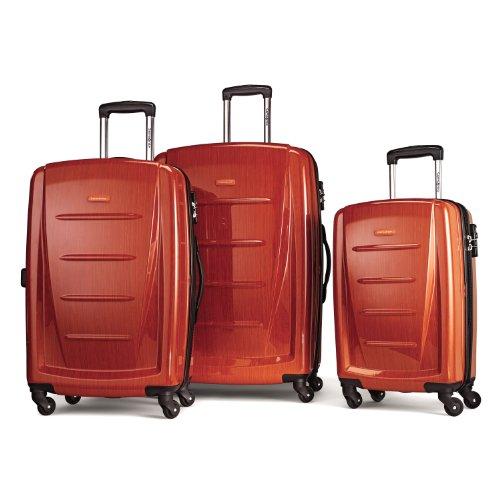 Samsonite Luggage Winfield 2 Fashion Hs 3 Piece Set, Orange, One Size