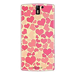 Mozine Pink Love Pattern Printed Mobile Back Cover For Oneplus One
