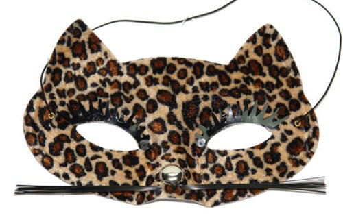 Cat Face Party Mask Cheetah Costume Mardi Gras Halloween Masquerade Prom