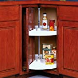 28 Inch Cabinet Lazy Susan White Door Mounted