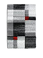 Contemporary Office Alfombra Chess Gris