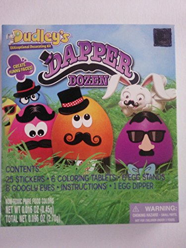 Easter Egg Coloring Kit Dapper Dozen Dudley's Eggceptional Decorating Kit - 1