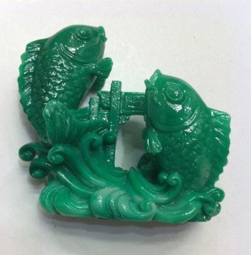 Feng Shui Double Carp Fish Crossing Dragon Gate Statue