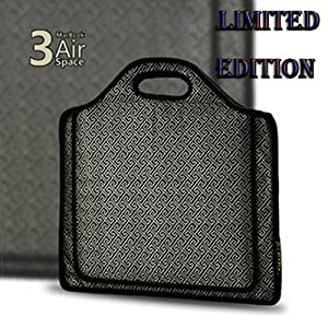 """PC MAMA Limited Edition Macbook Air 13"""" Protective Handbag Sleeve Case Combines Patent BTM and Bayer Technology - Canvas - Grey Grid"""