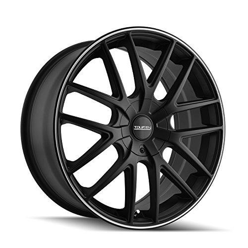 Touren TR60 3260 Matte Black Wheel with Machined Ring (17x7.5