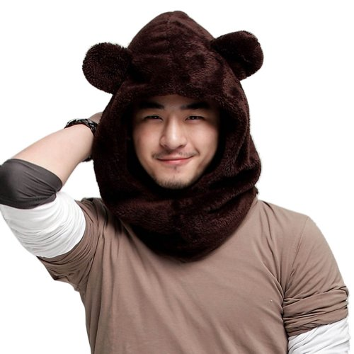 Winter Warm Cute Animal Hooded Scarves Scarf With Hood for Women Men Hat with Ears
