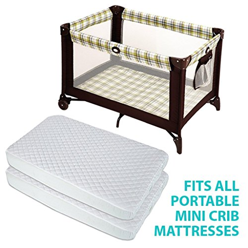 babymaryco pack n play waterproof crib mattress pad cover fits all mini foldable mattresses. Black Bedroom Furniture Sets. Home Design Ideas