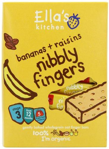 Ella's Kitchen Organic Bananas and Raisins Nibbly Fingers 125 g (Pack of 4)