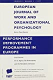 img - for Performance Improvement Programs in Europe: A Special Issue of the European Journal of Work and Organizational Psychology book / textbook / text book