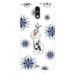 Hamee Disney Princess Frozen Official Licensed Designer Cover Hard Back Case for Lenovo K4 Note (Olaf / Snowflakes)