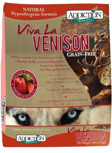Addiction Grain-Free Adult Dry Dog Food, Viva La Venison, 20 Pounds
