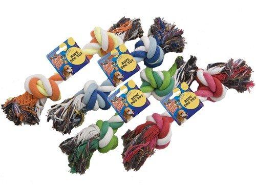 Artikelbild: Hundespielzeug Hundespielzeug Seil Baumwolle Kordel Spielzeug Hund Spielzeugseil Farblich Sortiert