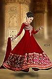 RND Creation Red Color Rakhi Special Anarkali Georgette Semi-Stitched Salwar Suit