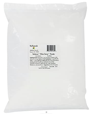 Отзывы Nunaturals Nusteiva White Stevia Powder, 5 pounds