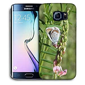 Snoogg White Butterfly Printed Protective Phone Back Case Cover For Samsung Galaxy S6 EDGE / S IIIIII