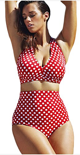 Elady Plus Size Bikini Sexy Dots Beachwear Top Bottom Sets Swimsuit For Women