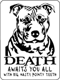 PITBULL ALUMINUM GUARD DOG SIGN 3366