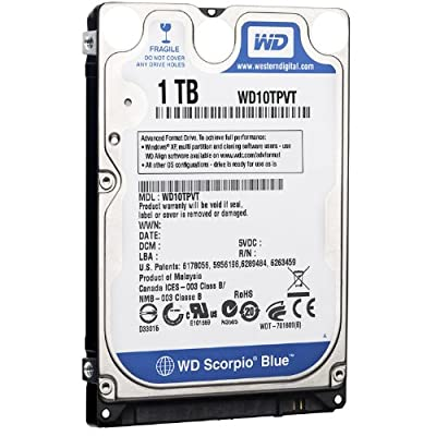 Western Digital Scorpio Blue 5200 RPM SATA Mobile Internal Hard Drive OEM (1 TB,8 MB,2.5 inch) from Western Digital