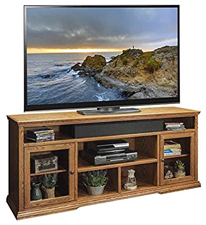 73.75 in. Tall TV Cabinet in Golden Oak Finish