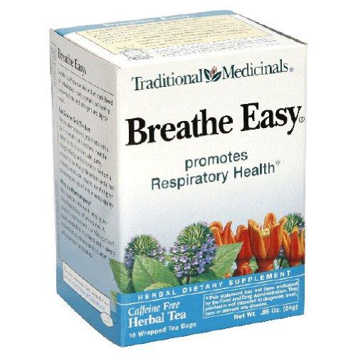 Traditional Medicinals Herbal Tea, Breathe Easy, 16 ct.