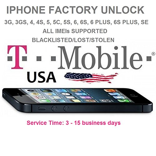 T-MOBILE USA Iphone Factory Unlock Premium Service. 3G, 3GS, 4, 4S, 5, 5C, 5S, 6, 6S, 6+, 6S+, SE. PREMIUM SERVICE. ALL IMEIs SUPPORTED., Blacklisted, Lost, Stolen. (Unlock Service Iphone 4s compare prices)