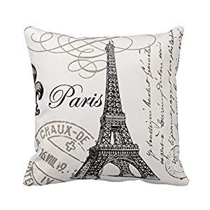 "Ycch Cotton Linen Square Decorative Throw Pillow Case Vintage Cushion Cover home 18X18 "" by HOTT"