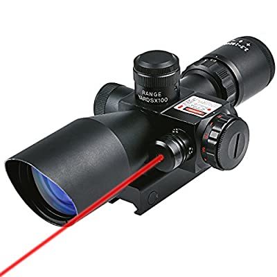 CVLIFE 2.5-10x40e Red & Green Illuminated Scope with 20mm Mount by Huihaozi