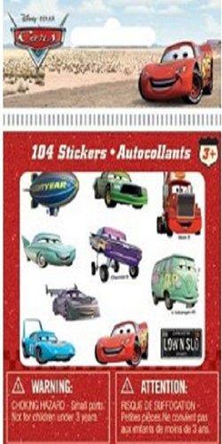 Disney / Pixar CARS Movie Accessory Die Cut Sticker 100-Pack