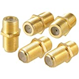 5 Pcs F-Type Female to Female Coaxial Barrel Coupler Adapter Connector