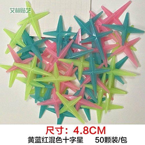 maluzi-regalos-de-navidad-pegatinas-luminosa-decoracion-hermosa-pared-seleccione-48-cm-amarillo-y-ro