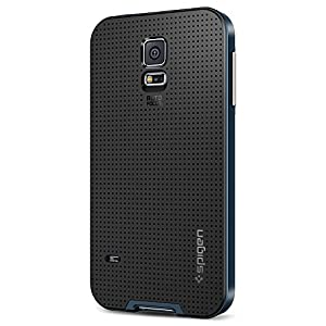 [METALLIZED BUTTONS] Spigen Samsung Galaxy S5 Case Protective [Neo Hybrid] [Metal Slate] Slim Fit Dual Protection Cover for Galaxy SV Galaxy S V - Metal Slate (SGP10774)