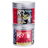 PC Products PC-7 Epoxy Adhesive Paste, Two-Part Heavy Duty, 1/2lb in Two Cans, Charcoal Gray 87770 (Color: Charcoal Gray, Tamaño: 1/2 lb)