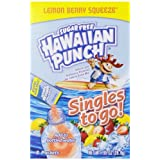 Hawaiian Punch Singles To Go Drink Mix, Lemon Berry, 8-Count (Pack of 12)