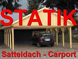 Statik berechnung satteldach carports breite 8 00 m 1 for Statik carport