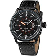 INFANTRY Police Mens Quartz Wrist Watch Luminous Dial Black Leather Date Display #IN-085-BLK-BL