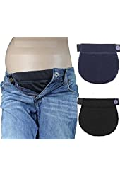 PACK OF 2 PREGNANCY MATERNITY JEANS TROUSERS WAIST BELLY BELT EXTENDER FOR CLOTHING