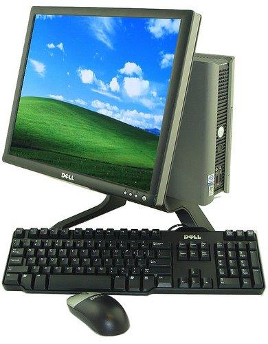 DELL DESKTOP PC COMPUTER USFF 2.8-3.0GHZ-1GB -40GB-CD ROM- 17