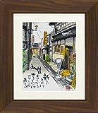 ユーパワー Tadaharu Itoi 糸井忠晴 ハンドペイントアートフレーム Lサイズ 町屋のカフェ IT-10014