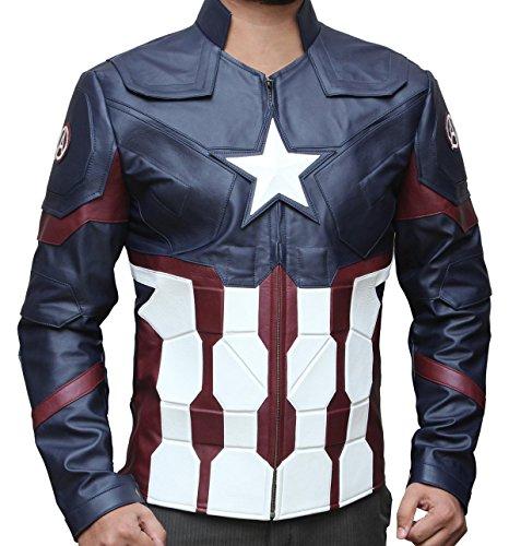 Capt America War Jacket (M, BLUE CIVIL JACKET) (Jacket Captain America compare prices)